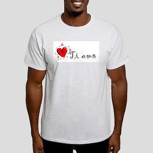 """I Love You"" [Italian] Ash Grey T-Shirt"